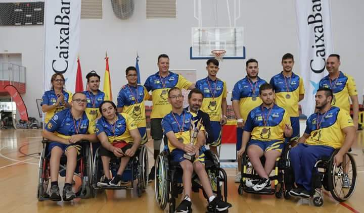 Equipo de la escuela BSR Econy Gran Canaria Accesible (Baloncesto de silla de ruedas)