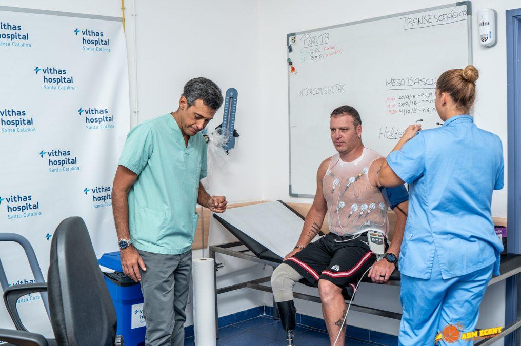 Arranca la pretemporada del BSR ACE Gran Canaria con las revisiones médicas en el Vithas Santa Catalina