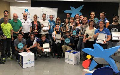 CaixaBank reconoce a los premiados de la sexta Hospitales San Roque LPA NightRun